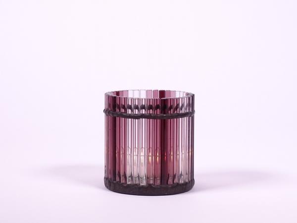 """Teelicht """" Murano """" violett ca.7,5x8cm"""