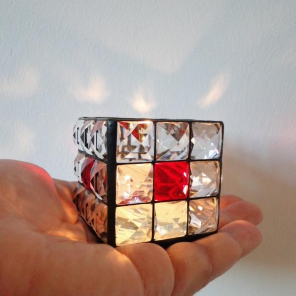 "Teelicht "" Brillant "" klar rot 7x7cm"