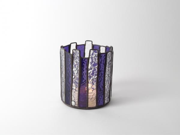 Kerzenleuchter MARRAKESCH violett ca. 12x12x13cm