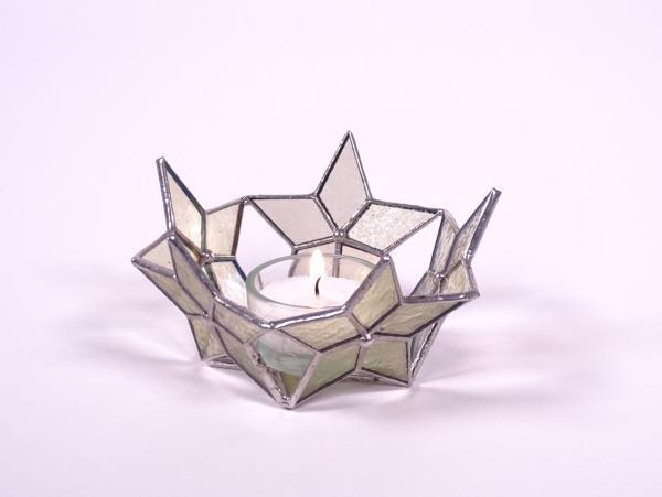 """Teelicht """" Sternenzirkel """" amber ca.11 x 5 cm"""