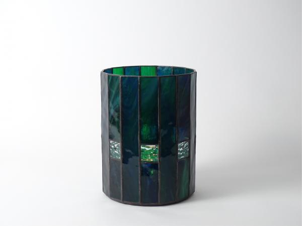 Candle Holder CHALET blue green, 16 x 21cm