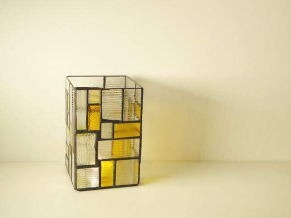 Kerzenleuchter Light gelb, ca. 14x14x22cm
