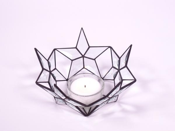 """Teelicht """" Sternenzirkel """" bevel ca.19 x 10 cm"""