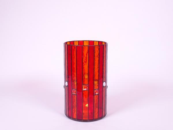 Kerzenleuchter Orient orange rot, ca. 15x25cm