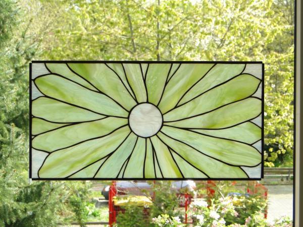 """Glasbild """" Vier Jahreszeiten Sommer """" 56x28cm"""