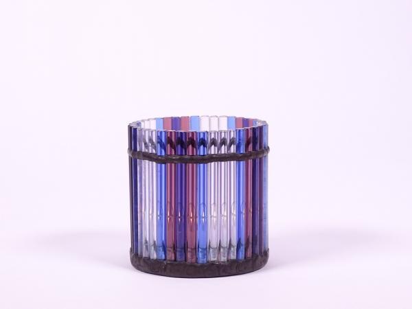 """Teelicht """" Murano """" blau violett ca.7,5x8cm"""