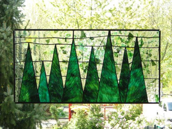 """Glasbild """" Vier Jahreszeiten Winter """" 56x28cm"""