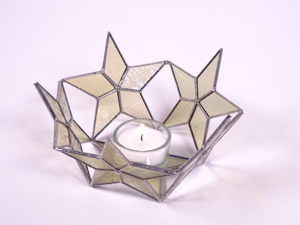"""Teelicht """" Sternenzirkel """" amber ca.16 x 8 cm"""