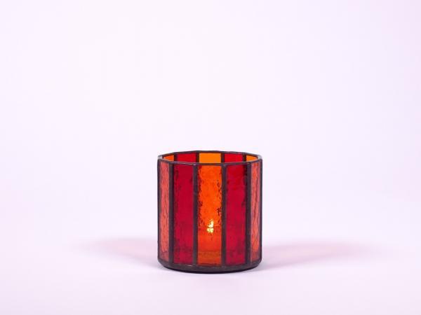 """Teelicht """" Orient """" orange rot ca.7,5x8cm"""