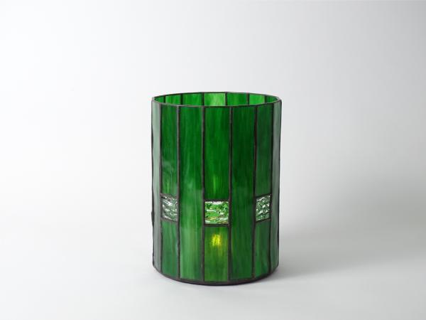 Candle Holder CHALET Green Light Green, 16 x 21cm