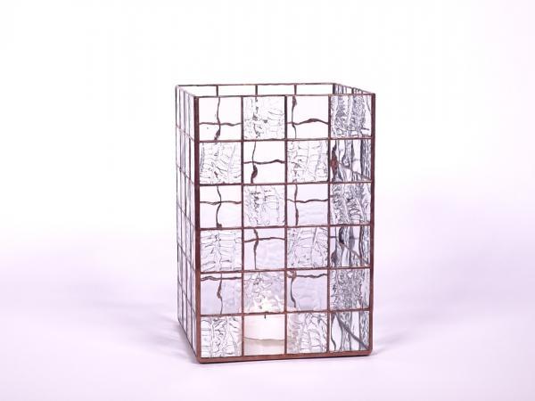 Kerzenleuchter Quadro Wasserglas, ca. 16x16x24cm