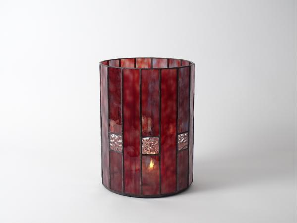Candle Holder CHALET red blue, 16 x 21cm