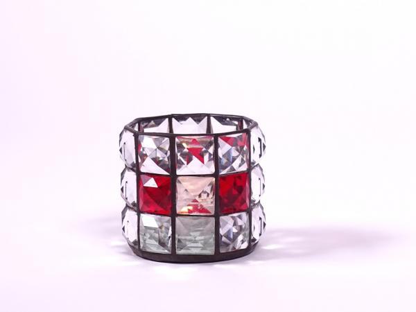 "Teelicht "" Brillant "" klar rot 6x7cm"